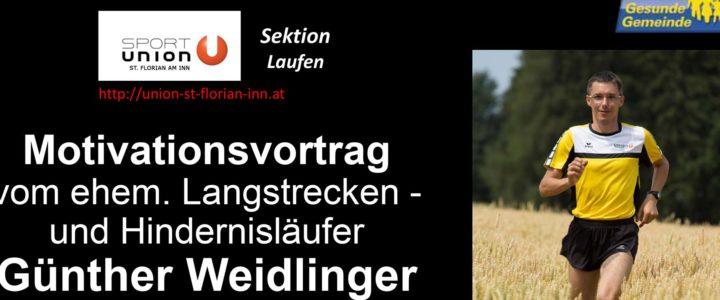 Neuer Termin Motivationsvortrag Günther Weidlinger – am 28.04.2021